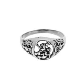 Scottish Lion Stainless Steel Signet Ring 9794